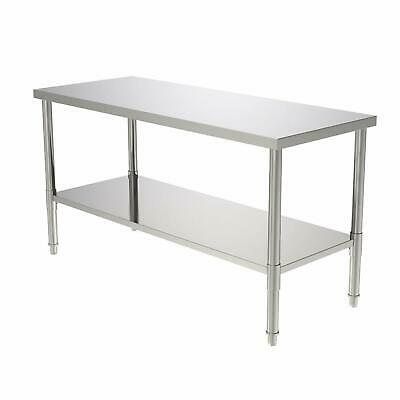 """24""""x60""""x32"""" Commercial Stainless Steel Heavy Duty Food Prep Work Table Kitchen"""