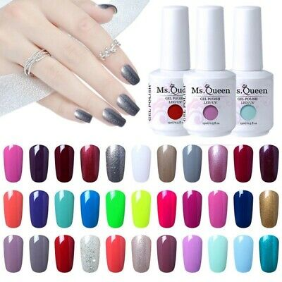MS.QUEEN 15ML Gel Nail Polish Varnish Manicure Lacquer No Wipe Top Base Coat