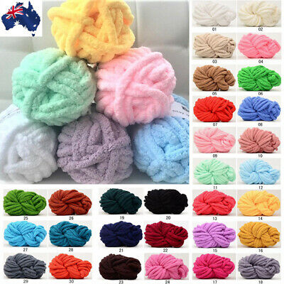 2.5cm Thick Chenille Chunky Yarn DIY Arm Super Knitting Throw Rug Mat Blanket