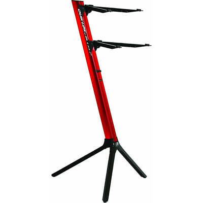 Quiklok Stay Keyboard Stand Slim Dual-tier Aluminum - Red