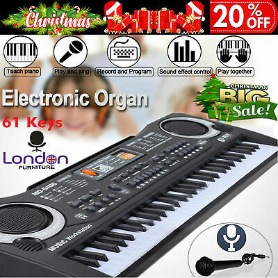 61 Keys Digital Music Electronic Keyboard Electric Piano Organ Microphone Set UK