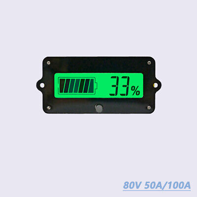 Coulomb Counter 80V 50A/100A DC Volt AMP Power Meter Battery Monitor Capacity UK