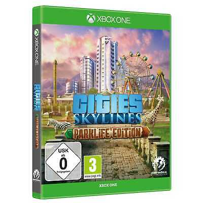 Cities Skylines Parklife Edition = Hauptspiel + DLC Microsoft Xbox One NEU&OVP