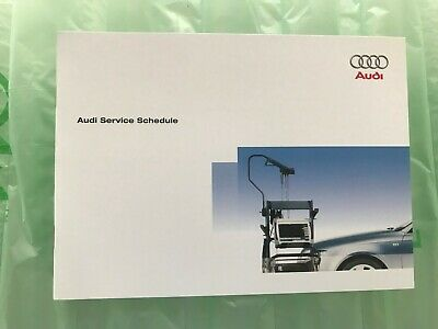 Audi Service Book Genuine Brand New For All Models Petrol Diesel S3 S4 Rs4 S6