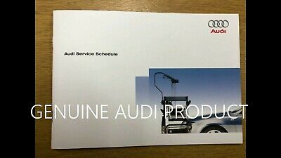 Audi Service Book Genuine Dealer Product Covers All Petrol And Diesel Cars