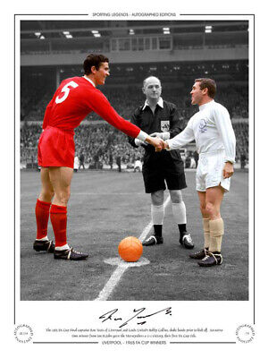 *LOW PRICE* SIGNED 16x12 LIMITED EDITION LIVERPOOL 1965 RON YEATS (SL118)
