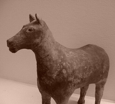Ancient Chinese Han Dynasty Gray Pottery Horse Statue, Western? Guaranteed