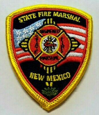State Of New Mexico Fire Marshal Hat Vest Patch Unused