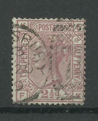 1873/80 Sg 141, 21/2d Rosy-Mauve (FK) Plate 13, Average used.
