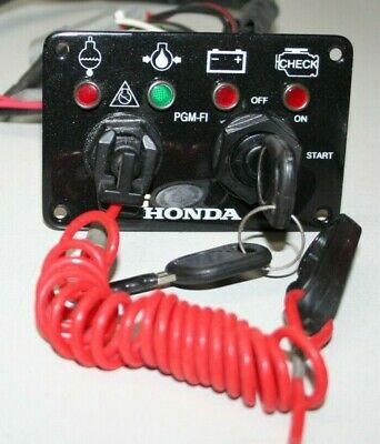 Honda Ignition Switch Panel With Kill Switch And Warning Lights