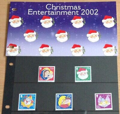 Isle Of Man  Presentation Pack 2002 Christmas Sg1041-1045