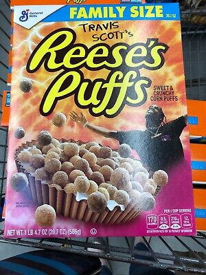 Travis Scott x Reese's Puffs Special Limited Edition Cereal Family Size SOLD OUT