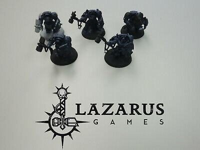 Warhammer 40K Space Marines - 5 Terminators, Assault w/ Thunder Hammers & SS