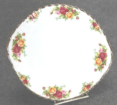 Royal Albert Bone China, England, Old Country Roses, Handled Cake Plate, Mint