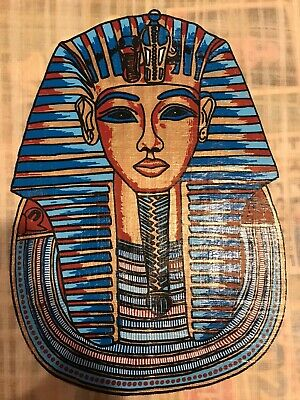 King Tut Authentic Hand Painted Egyptian Papyrus- Made in Egypt