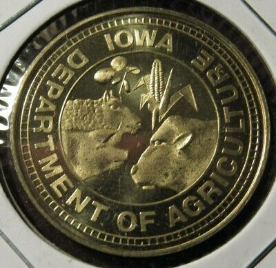 1973 Iowa Department of Agriculture 50th Anniversary Token - IA