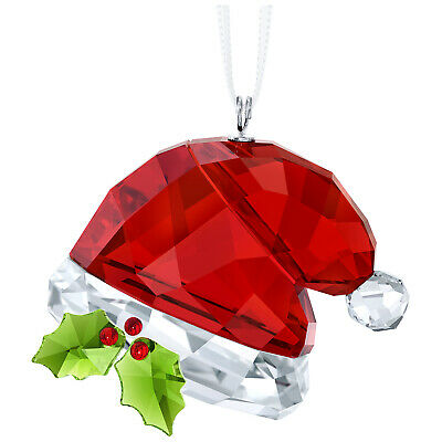 Swarovski Crystal Christmas Ornament Santa's Hat BNIB 5395978