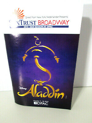 Disney's Aladdin musical Broadway tour program booklet pamphlet DPAC new 2019