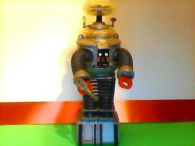 """Lost In Space B9 ROBOT 10"""" Electronic light, sound, & Motion (1997 Trendmasters)"""