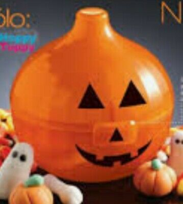 New TUPPERWARE Onion Keeper Jack O Lantern Halloween RARE with Stickers