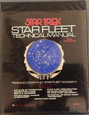 1975 Star Trek Star Fleet Technical Manual FIRST PRINTING FRANZ JOSEPH Excellent
