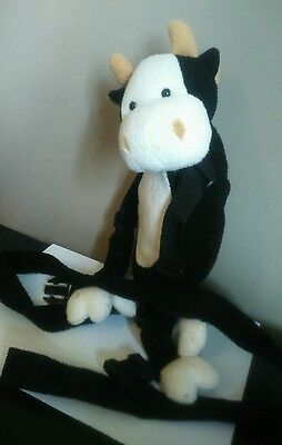 Goldbug Harness Buddy black white cow adjustable straps 12 inches Tall