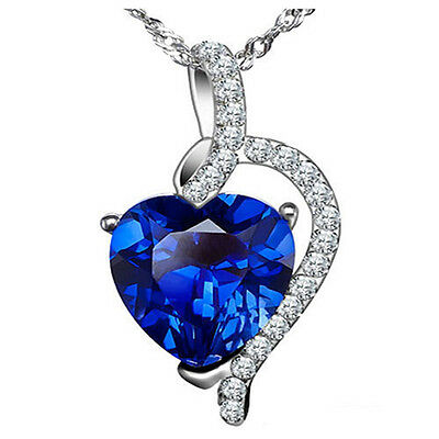 Ida 0.87ct Heart cut Simulated Sapphire with Ice on Fire CZ Halo Promise Ring