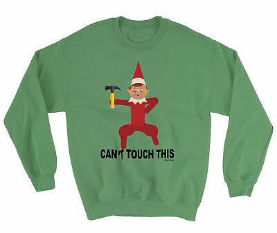 KIDS Sweater Boys Girls CHRISTMAS CANT TOUCH THIS Elf Boys Girls Elves Funny