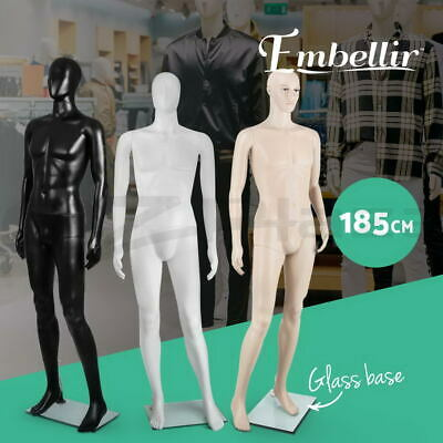 Male Mannequin Head Hair Torso Full Body Child Clothes Display Detachable