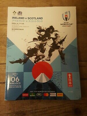 Rugby World Cup 2019 Programme Ireland Vs Scotland