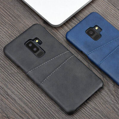 For Samsung Galaxy S10+Note10 9 Wallet Credit Card Slot Leather Back Case Cover