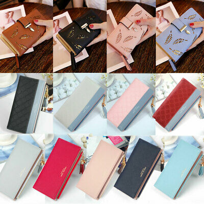 Women Ladies Leather Wallet Long Zip Purse Card Phone Holder Case Clutch Handbag