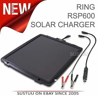 Ring Solar Powered Battery Maintainer│6 W Charger│For 12V Vehicles Inc. Car-Van