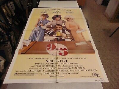 "NINE TO FIVE 1980 JANE FONDA LILY TOMLIN DOLLY PARTON ORIG 27x41"" POSTER N7205"