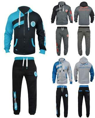 Kids Boys Girls Sports Tracksuit HNL Set Fleece Hoodie Top Bottoms Joggers