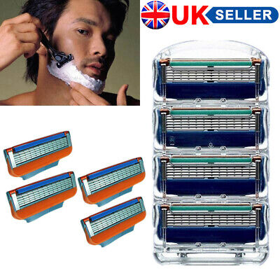 4/12/20x Men's Cartridges Replacement Shaving Razor Blades For Gillette Fusion R