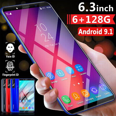 6.3 Inch X27 Plus Smart Phone 6+128G 4G HD Octa Core Face Unlocked Android 9.1