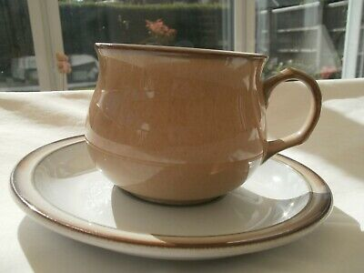 DENBY Stoneware VICEROY TEA/COFFEE cup and saucer VGC