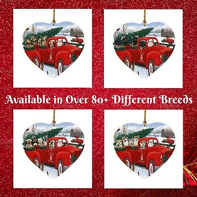 9 different Breeds of Christmas Dog Sided Metal Hanging Tree Decorations 8x8cm