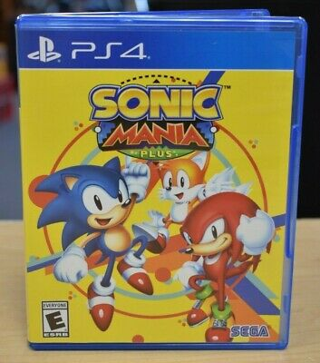 *Sonic Mania Plus (Sony PlayStation 4 2018) PS4 PREOWNED BUY IT NOW FREE SHIPPIN