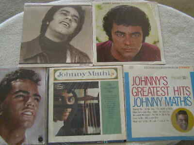 5 Lot JOHNNY MATHIS Pop Music Record Albums BEST DAYS PORTRAIT GREATEST HITS