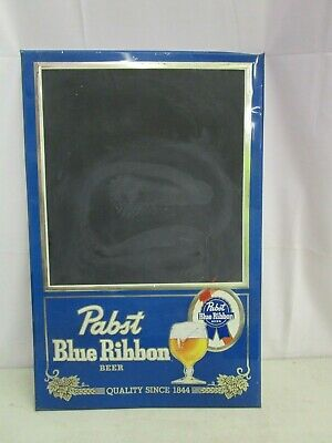 "Vintage *PABST BLUE RIBBON CHALKBOARD ADVERTISING SIGN* (TIN)  16.5"" x 26"""