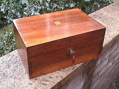 Superb Walnut Victorian Writing Slope - Complete