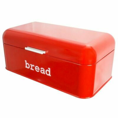 Stainless Steel Bread Box  Storage Container for Kitchen Counter Loaves, Red