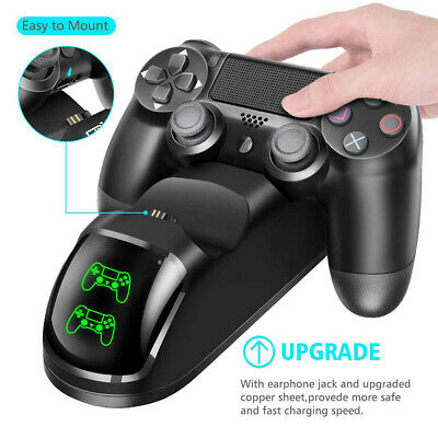 PS4 Dual Controller Fast Charger Charging Dock Station Dualshock Gamepad