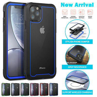 For iPhone 11,11 Pro,Pro Max Clear Back Case Hybrid Heavy Duty Transparent Cover
