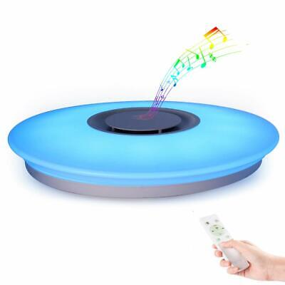 Lámpara de Techo LED Plafón con Altavoz Bluetooth Luz LED Regulable