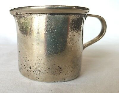 Antique Very Small Silver Plated Handled Pitcher