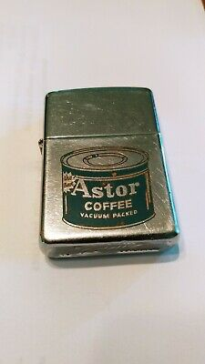 1961  Zippo lighter rare Astor Coffee can The Best on it very nice antique used