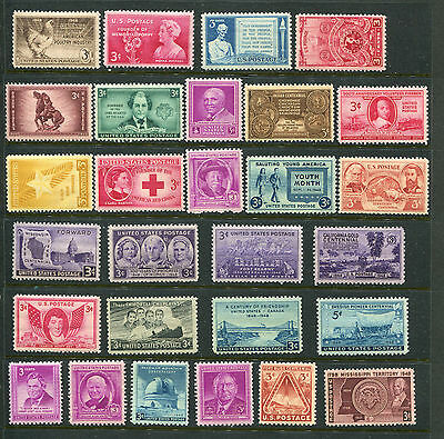 Scott #953-980--1948 COMPLETE YEAR SET OF MINT -MNH- VINTAGE U.S. Stamps